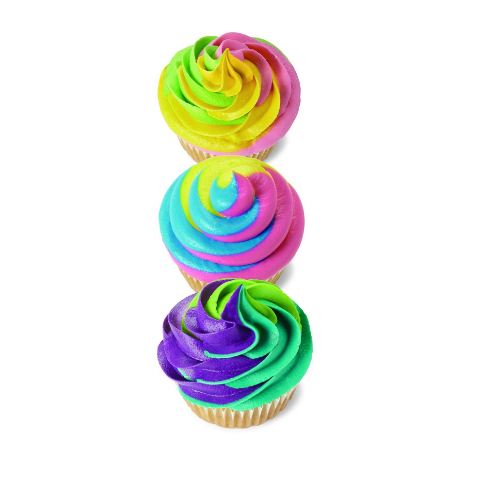 9-Piece Cake Decorating Kit Wilton Color Swirl 3-Color Piping Bag Coupler