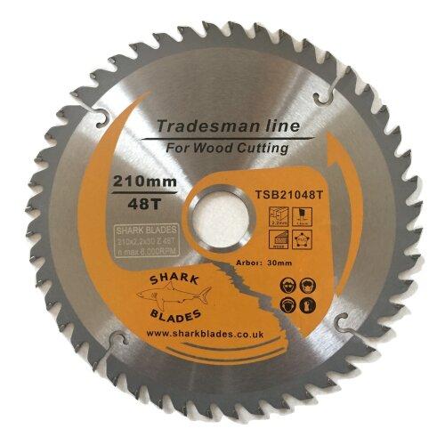 Shark Blades TCT Circular saw blade 210mm x 48T Mitre saw Clean wood cuts