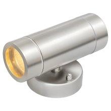 De Markt Street 807020501 Chrome Colour Metal Glass 2x35 LED GU10 IP65
