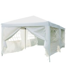 Outsunny 6 x 3(m) Garden Heavy Duty Pop Up Gazebo Marquee Party Tent Wedding