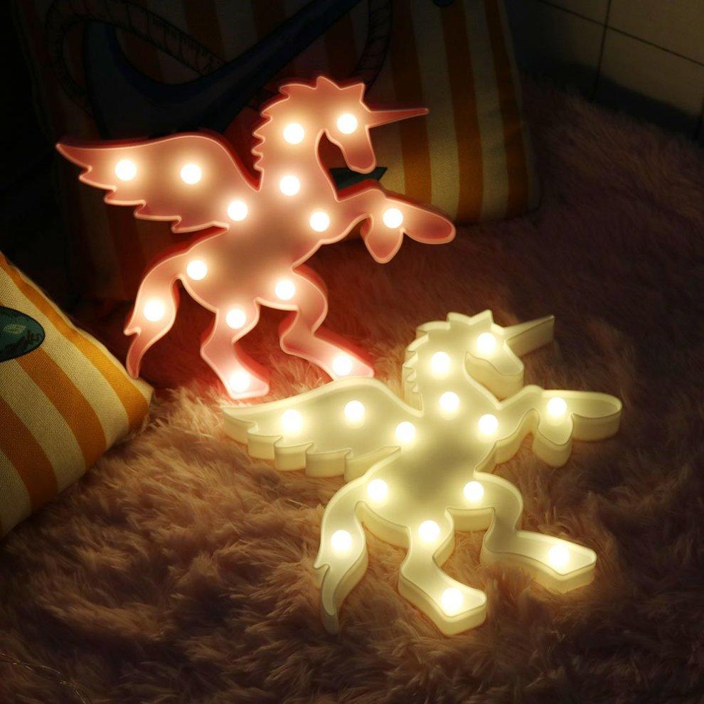 Vimlits Plastic Unicorn Children's Led Night Lights Animal