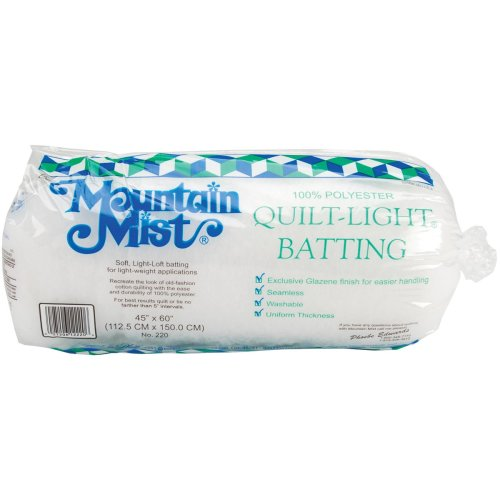 "Mountain Mist Quilt-Light Polyester Batting-Crib Size 45""X60"" FOB: MI"