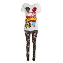 Marvel Comics Womens/Ladies Avengers Pyjama Set