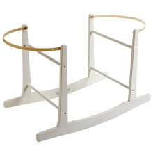 White Deluxe Moses Basket Rocking Stand | White Rocking Moses Basket Stand