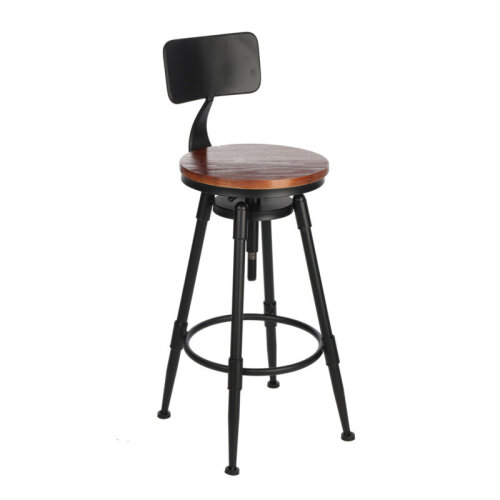 Industrial Style Bar Stool | Adjustable Stool for Kitchen & Bar