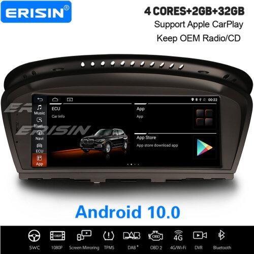"""8.8"""" Android 10.0 IPS Car Stereo CarPlay DAB+ Sat Nav For BMW 3er E90 E91 E92 E93 5er E60 E61 E63 E64"""