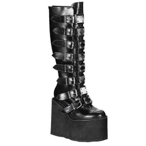 Demonia SWING-815 Blk Vegan Leather