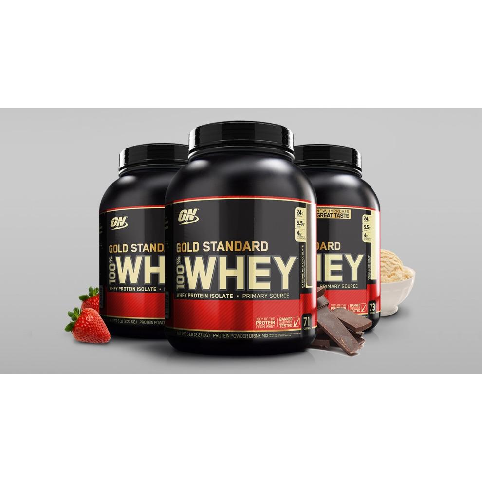 (Vanilla Ice Cream ) Optimum Nutrition Gold Standard 100% Whey 2.27kg