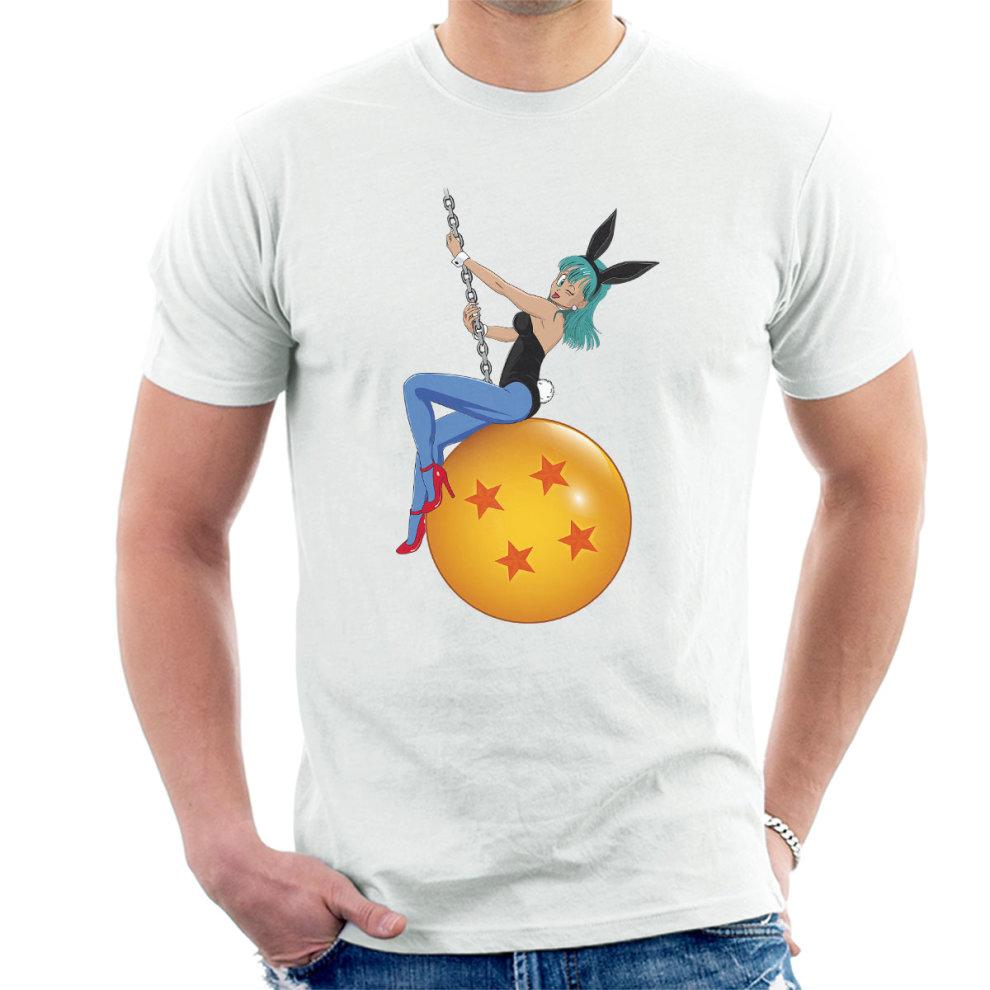 (X-Large, White) Bunny Ball Bulma Dragon Ball Z Nude Mens