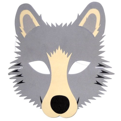 Wolf Foam Face Mask - Fancy Dress Animal Halloween - Made by Blue Frog Toys Ltd