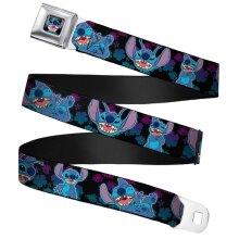 "Children's Disney Lilo & Stitch 'Stitch Expressions' Seatbelt Buckle Web Belt (20-36"")"