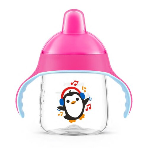Philips Avent No Drip Spout Cup 9oz Scf753/00 12m+ (pink)