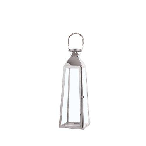 Small Decorative Lantern Silver CRETE