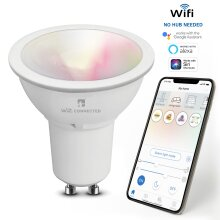 WiZ LED GU10 Smart Bulb RGBW Colours Tuneable White&Dimmable, 2pk