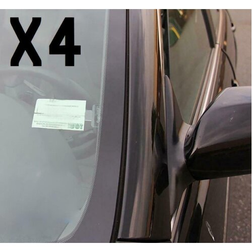 4x Universal Car Vehicle Parking Permit Ticket Holder Self-Adhesive Window Clips
