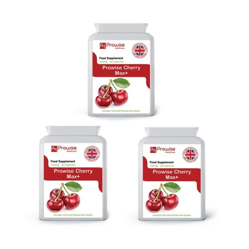 Cherry Max+ 750mg 90 capsules Pack of 3 by Prowise Healthcare