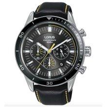 Lorus Sports Quartz Chronograph Leather Steel Men's Watch RT311HX9