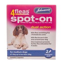 Johnson's 4Fleas Spot-On for Medium Dogs