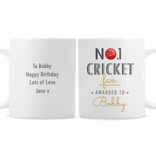 Personalised Ceramic Mug - No.1 Cricket Fan