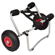vidaXL Kayak Trolley Aluminium Boat Dolly Trailer Tote Transport Cart Wheel