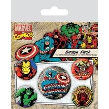 Marvel Captain America Badge Set (Pack Of 5)