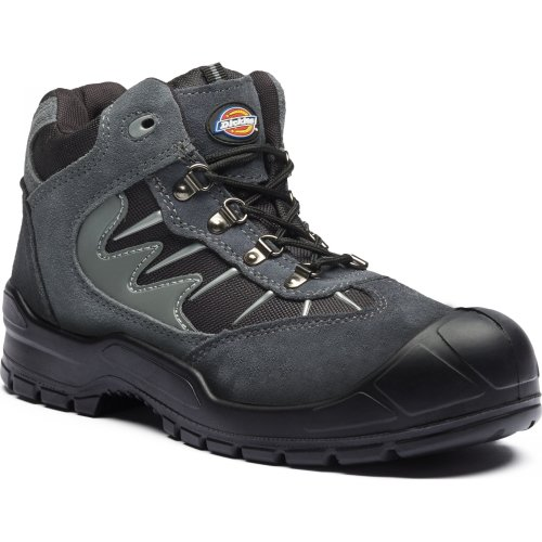 (Size 7) Dickies Storm Safety Work Boots Grey (Sizes 7-12) Men's Steel Toe Cap Shoes