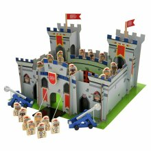 Chad Valley Large Wooden Knights Castle Children's Play Set Includes Figures