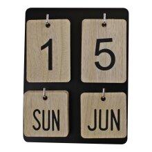 Wooden Freestanding Photo Frame Style Perpetual Calendar