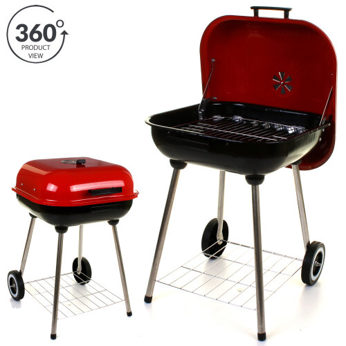 """(Liberty 18"""" Square BBQ) Marko BBQ Barbecue Outdoor Garden Charcoal Barbeque Patio Party Cooking Large"""
