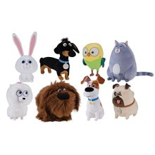 SECRET LIFE OF PETS 8 PIECE PLUSH SET MEASURES 5 TO 8 INCHES TALL by Secret Life of Pets