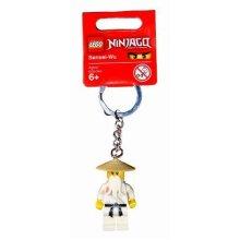 Lego Year 2011 Ninjago Series Key Chain Set # 853101 : Sensei-Wu Keychain