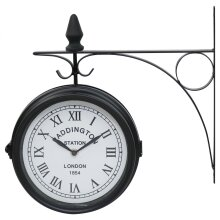 Oypla Double Sided Paddington Station Outdoor Garden Wall Clock