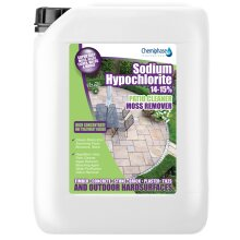 Sodium Hypochlorite Patio Cleaner | Moss Remover 15% Grade 1 x 5 Litres | Chemiphase Ltd