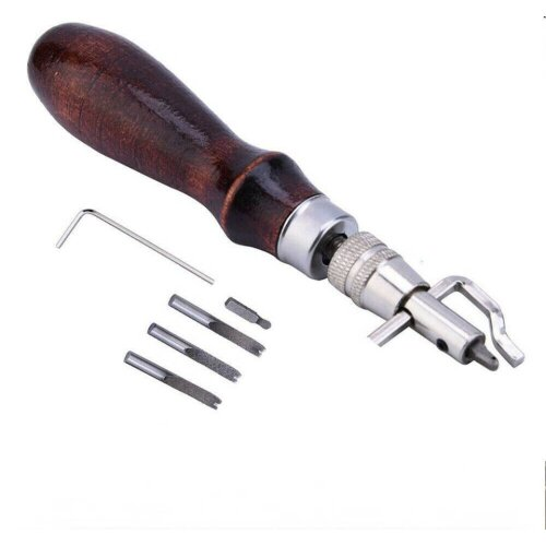 7X Leather Craft Tool Edge Stitching Groover Creaser Punch Sewing DIY