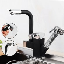 Swivel Spout Kitchen Sink Mixer Taps With Pull Out Bidet Spray Head