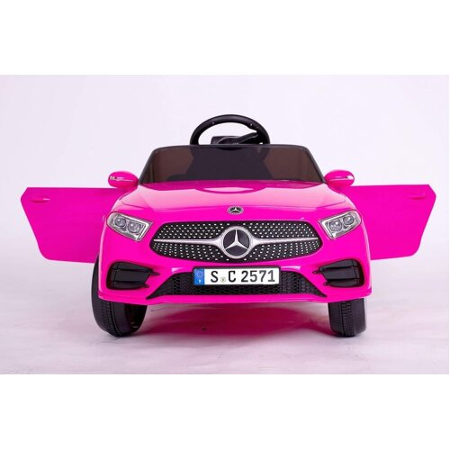 RICCO® 12V 4A Two Motors Mercedes Benz CLS350 Licensed Battery Powered Kids Electric Ride On Toy Car PINK