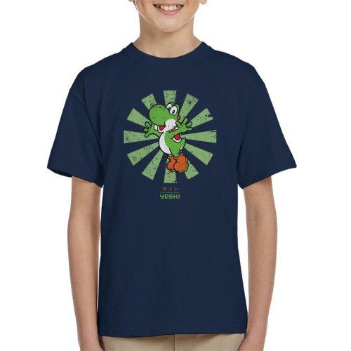 (Medium (7-8 yrs)) Yoshi Retro Japanese Super Mario Kid's T-Shirt
