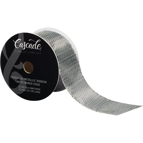 38mm Wide ** Ribbon ** PEWTER /& GOLD
