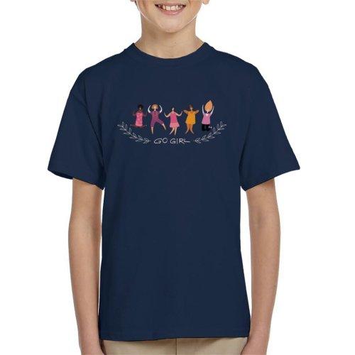 Go Girl Text Kid's T-Shirt