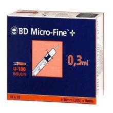 BD MicroFine + Plus 0.3ml U100 30G 8mm x 100