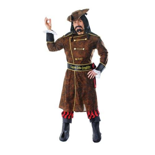 Mens Captain John Longfellow Fancy Dress Costume (Extra Large)