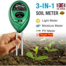 3 in 1 Soil PH Tester Water Moisture Light Test Meter Kit UK