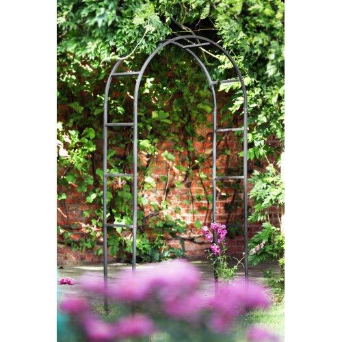 Tom Chambers Black Powder Coated Classic 228cm x 110cm Metal Steel Garden Flower Arch