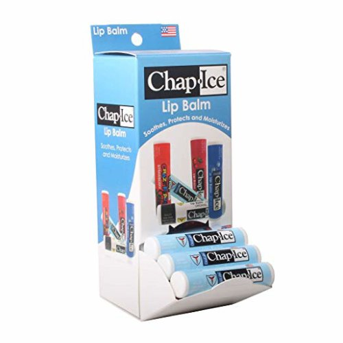 Chap-Ice   Medicated lip balm - for chapped, windburned lips - gravity feed display - 24 count