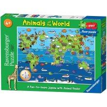 Ravensburger Animal World Giant Floor Jigsaw Cardboard multicolor 60pc