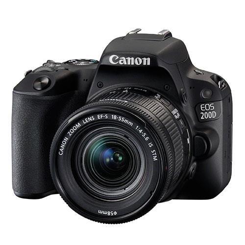 Canon EOS 200D DSLR Camera & 18-55mm f/4-5.6 IS STM Lens Kit - Black
