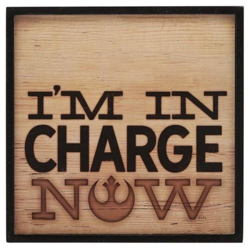 Star Wars 90163865-S Charge Now Rustic Thin Framed Hollow Wall Decor