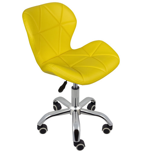 (Yellow) Charles Jacobs Cushioned Swivel Office Chair