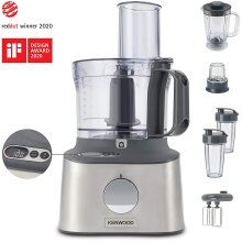 Kenwood Multipro Compact+ FDM312 SS, 5-in-1, Stainless Steel, 2.1 L Capacity, digital weighing scale, Jug Blender, Spicemill, Smoothie Blender, 800 W