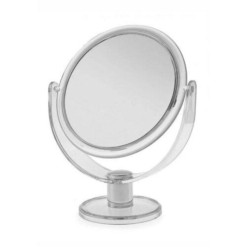 Bathroom Mirror Standing Round Plastic Cosmetic Swivel C - Shaped